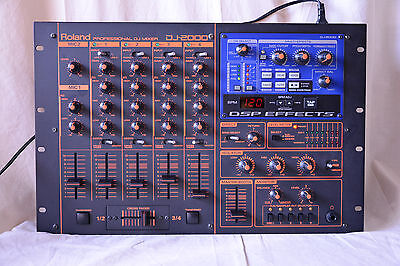 Roland DJ-2000 Professional DJ Mixer 4 channel mixing with 3-band EQ per channel