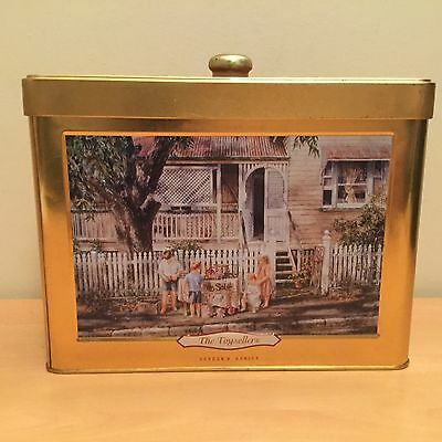 Collectable biscuit tin unibic Gordon k Hanley the toy sellers