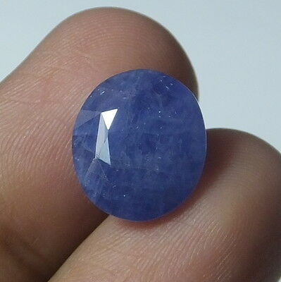 9.65 Ct Natural Untreated Burmese Blue Sapphire Oval Faceted Gemstone 13.5X12 MM