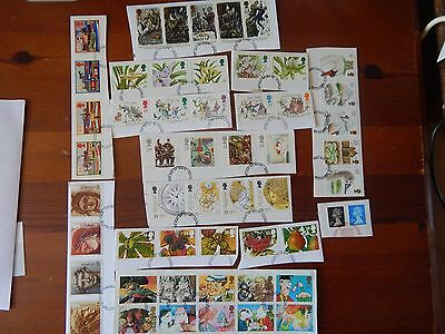 1993 11 SETS FINE USED ON PIECE FROM FDCs VERY FINE LOT SEE PICTURE