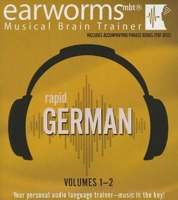 Rapid German, Vols. 1 & 2 by Earworms Learning Compact Disc Book (English)