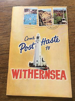 Withernsea Urban District Council 1960s Official Guide Advertisements & Photos