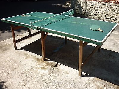 Vintage Table Tennis table bats, balls and nets