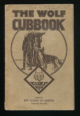Vintage Scouting Book THE WOLF CUBBOOK - THE BOY'S CUBBOOK BSA ©1938