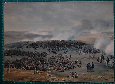 c1855 HAND COLOURED PRINT BRITISH TROOPS SIEGE of SEVASTOPOL CRIMEAN WAR