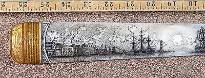 Scrimshaw Swordfish  Bill Pen-And-Ink  K. Henry 11 Smiling  Whale Ship Fantastic
