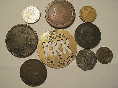 Mixed Lot Foreign Coins and tokens