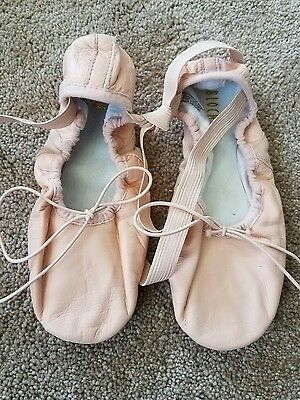 girls pink ballet shoes size 3.5