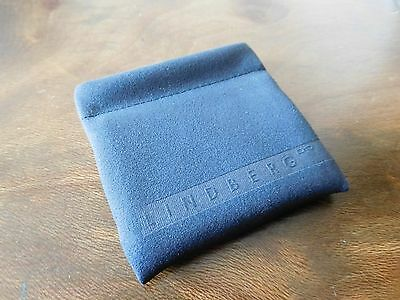 Brand New~Lindberg~Danish Designer Brand ~ Glasses Cleaning Cloth In Pouch