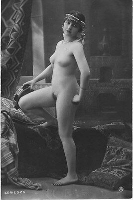 French NUDE real photo postcard circa 1920 Jean AGELOU SERIE525
