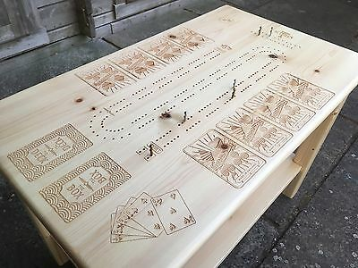 Solid Wood Cribbage Coffee Table - Designed And Made In The UK