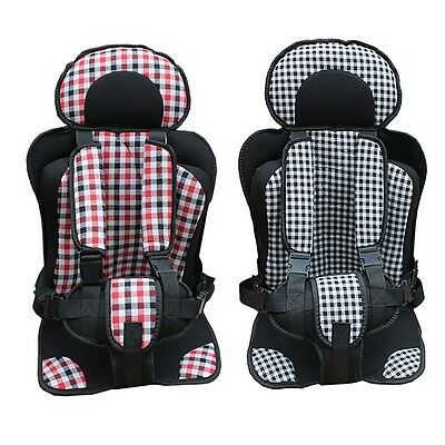 Baby Car Seat Grid Cushion Toddler Adjust Trips Protective Comfy Safety Seats