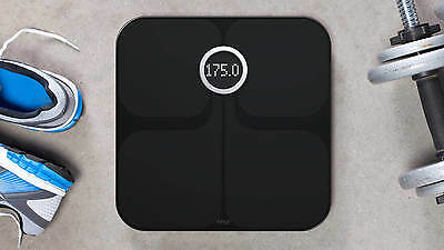 Fitbit Aria Wi-Fi Smart Scale Bathroom Clever Scales BLACK *NEW*