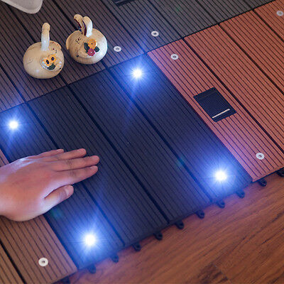 BG1002 Wood Plastic Composite Flooring with Solar Light Outdoor Garden Balcony