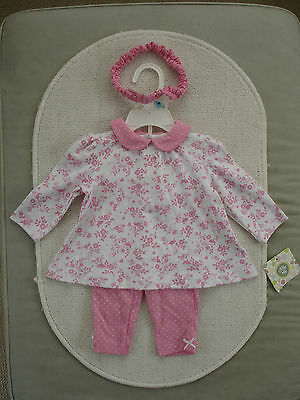 Baby Girls Pink & White Outfit Age 3-6 months- BNWT Little Me