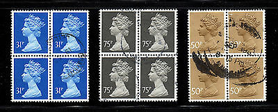Uk Great Britain  Machin  Blocks Of 4