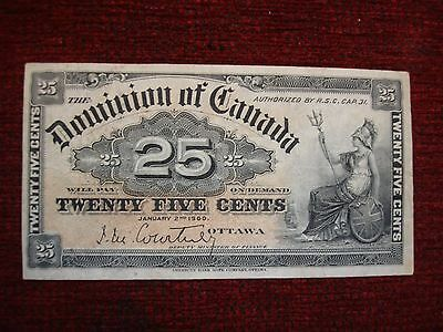 1900 Dominion Of Canada 25 Cent Note - Nice