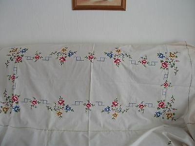 Large Embroidered Tablecloth[Cross Stitch] & 12 Napkins