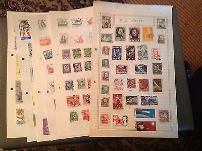 212 Poland Stamps On 9 Pages