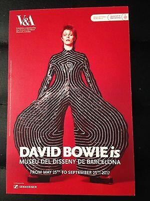 DAVID BOWIE is PROMOTIONAL FLYER BARCELONA 2017