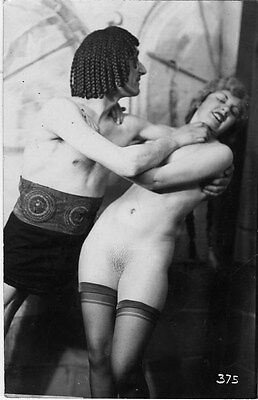 French NUDE real photo postcard circa 1920 BIEDERER 375