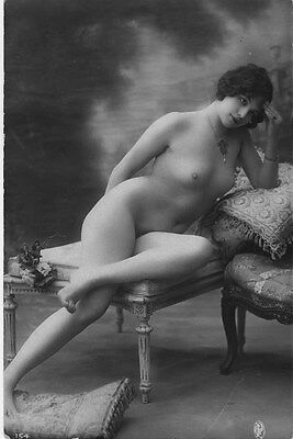 French NUDE real photo postcard circa 1920 Jean AGELOU 154