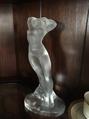 Lalique Frosted Nude Women Figure Statue