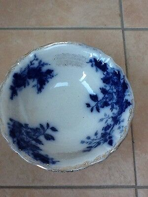 Old Blue And White Pottery Dish