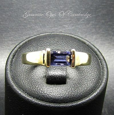 9ct Gold Tanzanite Solitaire Ring Size N 2.5g