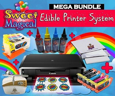 Canon MEGA BUNDLE Edible Printer Comes W/ink,cleaners, Airbrush Frosting Sheets