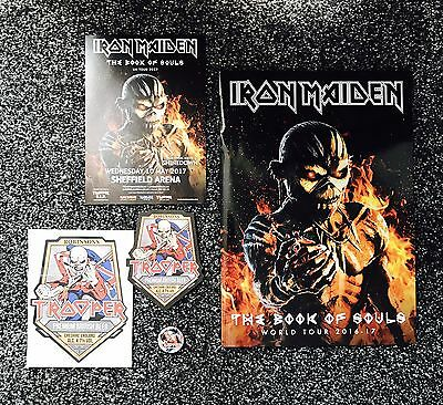 Iron Maiden The Book Of Souls World Tour Programme & Trooper Goodies