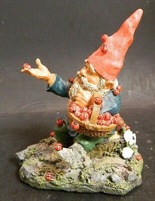 """Vintage Gnomes Klaus Wickl """"Lucky"""" Luck Be A Ladybug #173231 5.63"""" x 4.5"""" V.G."""