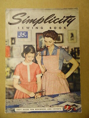 1955 SIMPLICITY SEWING BOOK Patterns Tailoring Atomic Age Fashions Vintage ORIG