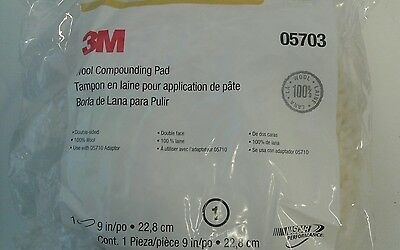 """NEW 3M 5703 Superbuff Wool Double-Side Compound Buffing Pad wheel  MMM 9"""" 05703"""