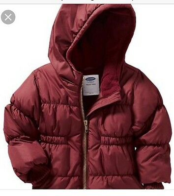 Old Navy Girls Frost Free Puffer Coat Jacket 4T