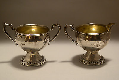 Vintage Rogers Sterling Silver Sugar and Creamer