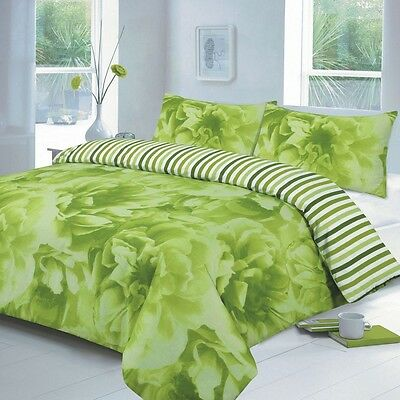 Modern Duvet Cover Bedding Set With Pillow Case Single Rose Lime