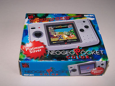 PLATINUM NEO GEO POCKET CONSOLE EMPTY BOX ONLY - Original Product - EXC COND