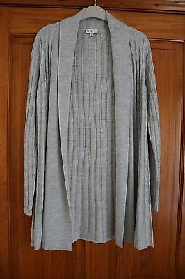 Long grey Country Casuals cardigan size small new