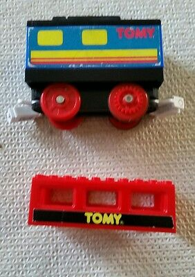 Tomy train carriage from 1991 ..has sound box activated by wheels turning