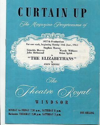 Theatre Royal Windsor Curtain Up The Elizabethans by John Moore June 1963
