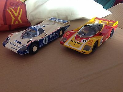 Scalextric Porsche 956 Racing #1 PLUS Porsche 956 Shell#18. Used, both runners.