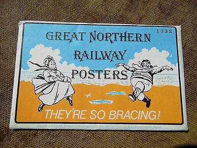A vintage set 6 postcards featuring Great Northern Railway Posters No 313-318