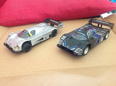 Scalextric Sauber Mercedes C9 matching pair! Very good condition Group C racers