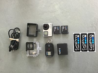GoPro HERO4 Camcorder -  Silver with many extras
