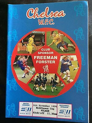 CHELSEA LADIES v FULHAM WOMEN 1994-95 MIDDLESEX FA CUP