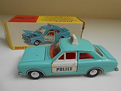 Vintage Dinky Toy #270 Ford Panda Police Car With Original Box - Great Condition