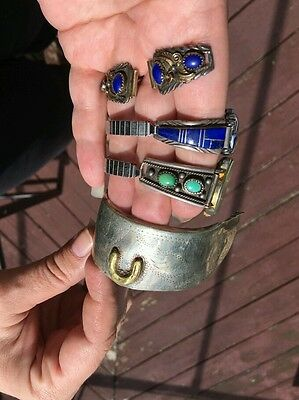Huge Lot Southwest Vintage Sterling Silver .925 Jewelry Turquoise Navajo Mexico