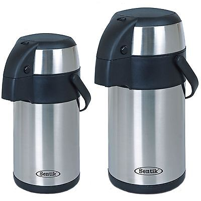 Stainless Steel 3L & 5L Litre acuum Flask Thermos Jug Airpot with Pump Action