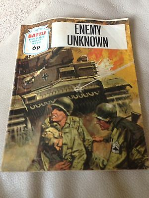 Battle Picture Library 645 Enemy Unknown Bronze Age Comic 1970s